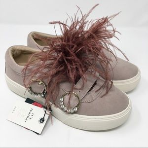 NWT Zara Feather Slip Ons